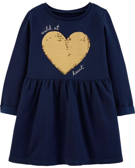 Display product reviews for Sequin Heart Fleece Dress