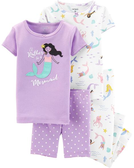 991db5e4aa Display product reviews for 4-Piece Mermaid Snug Fit Cotton PJs