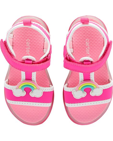 bdd7c832fec Display product reviews for Carter s Rainbow Light-Up Sandals