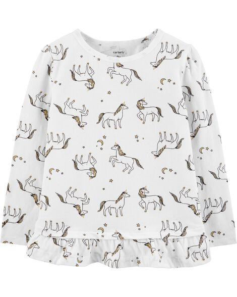 Display product reviews for Unicorn Ruffle Stretch Tee