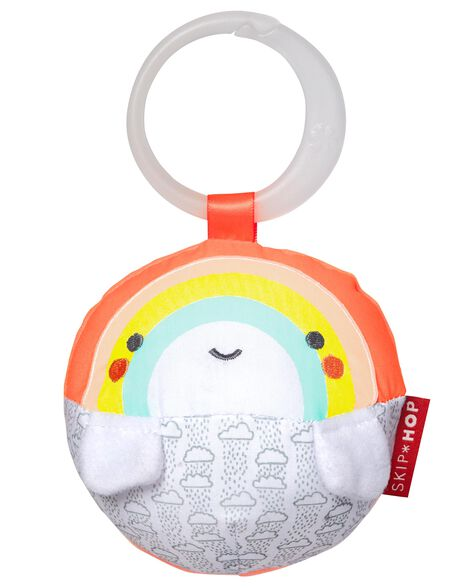 Display product reviews for Silver Lining Cloud Rattle Ball - Rainbow