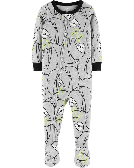 88182ab71 Display product reviews for 1-Piece Sloth Footed Snug Fit Cotton PJs