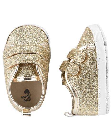 Display product reviews for OshKosh Glitter Sneaker Crib Shoes
