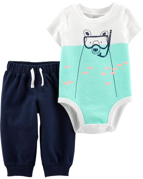 5fed3c10c300 Display product reviews for 2-Piece Polar Bear Bodysuit Pant Set
